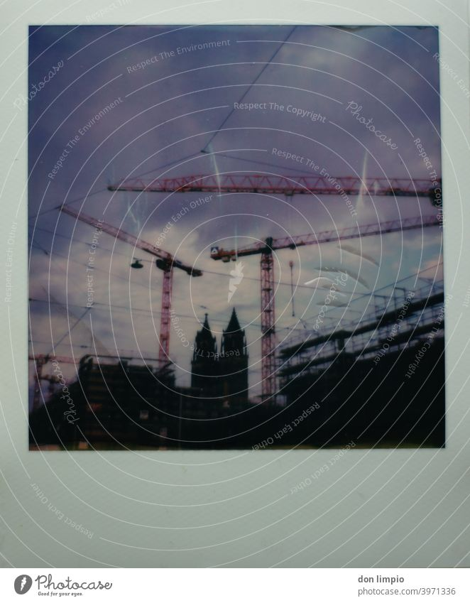 Magdeburg Cathedral Dome Tourist Attraction Deserted Exterior shot Colour photo Polaroid Town Downtown Architecture Manmade structures Monument Building