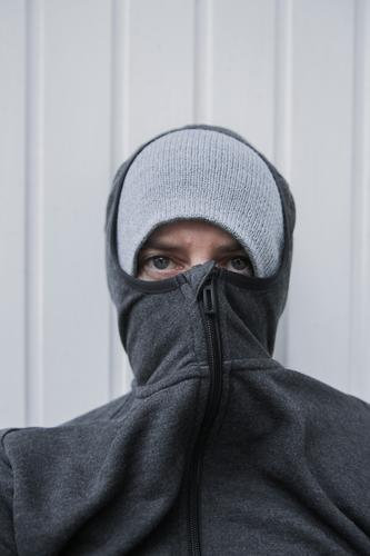 lockdown Colour photo Close-up Exterior shot portrait portrait of a woman Anonymous Masked Authentic tired Boredom coronavirus Winter Cold Freeze
