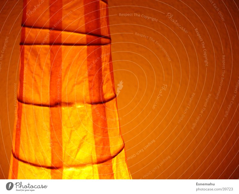 White Lamp Dark Wall (building) Bright Orange Paper Living or residing Stripe Cloth Vertical Horizontal