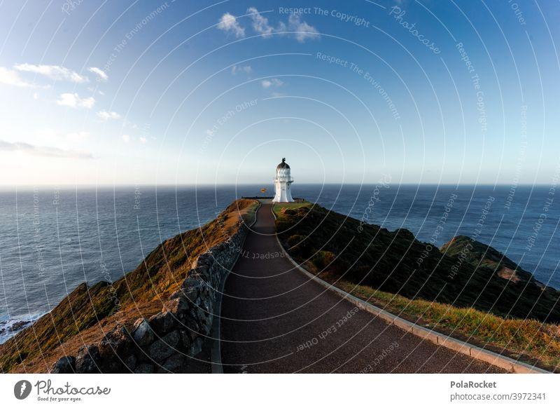 #AS# Cape Reinga II Cape Reinga Lighthouse cape reinga New Zealand North Freedom Adventure Sunset Deserted End Vantage point Waves Far-off places coast Ocean