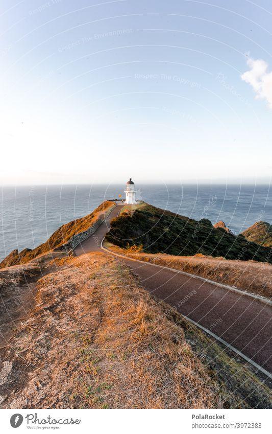 #AS# Cape Reinga Cape Reinga Lighthouse cape reinga New Zealand North Freedom Adventure Sunset Deserted End Vantage point Waves Far-off places coast Ocean