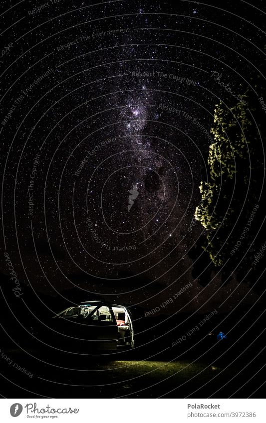 #AS# Time for bed? No the stars are calling Milky way campervan Camper outdoor Starry sky Stars Night Night sky Starlit Universe Long exposure travel