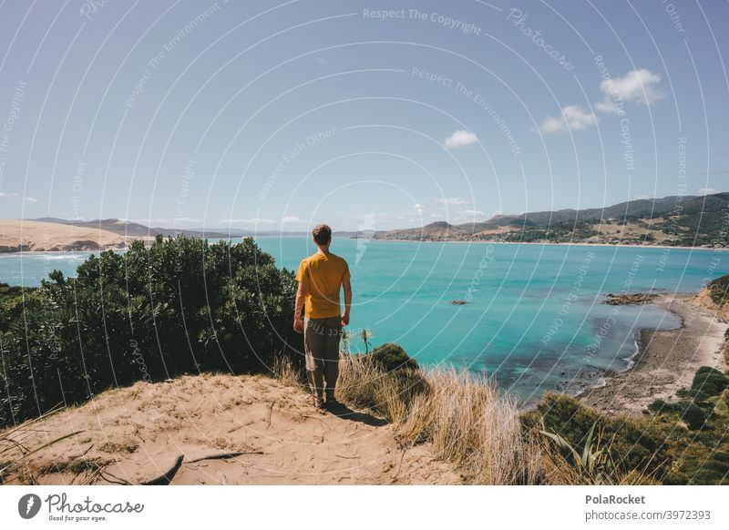 #AS# Magic Sea Beach and sea Green Ocean Blue whitewash Camping bank coast Sky Landscape travel Summer Waves on one's own untreated Wild Water Sand hikers