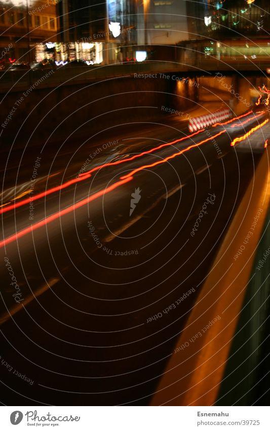 White City Red Black Yellow Street Dark Movement Car Speed Bridge Aviation Stripe Tunnel Cologne Mobility