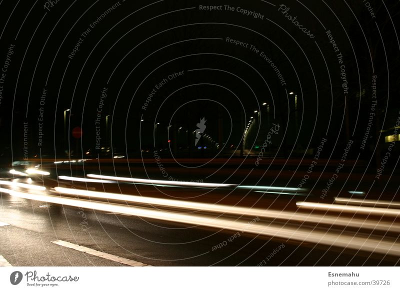 White Black Yellow Street Dark Movement Car Transport Speed Stripe Mobility Aperture Acceleration Glare effect