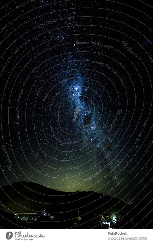 #AS# Good night's sleep Milky way campervan Camper outdoor Starry sky Stars Night Night sky Starlit Universe Long exposure travel Overpowered
