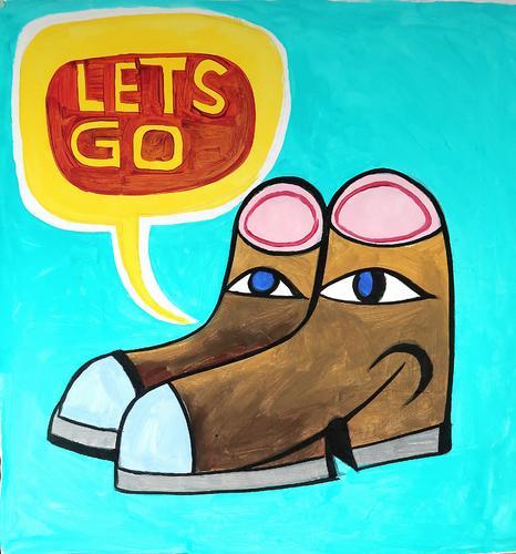 Let's Go awakening Footwear start Common ground Impatience