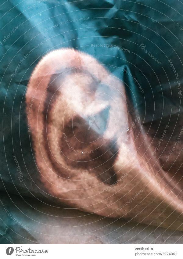 Poster with ear Ear External ear Ear lobe Hearing Ear canal perception Meaning Sense Organ Image image Bend Wrinkles Advertising outdoor advertising portrait