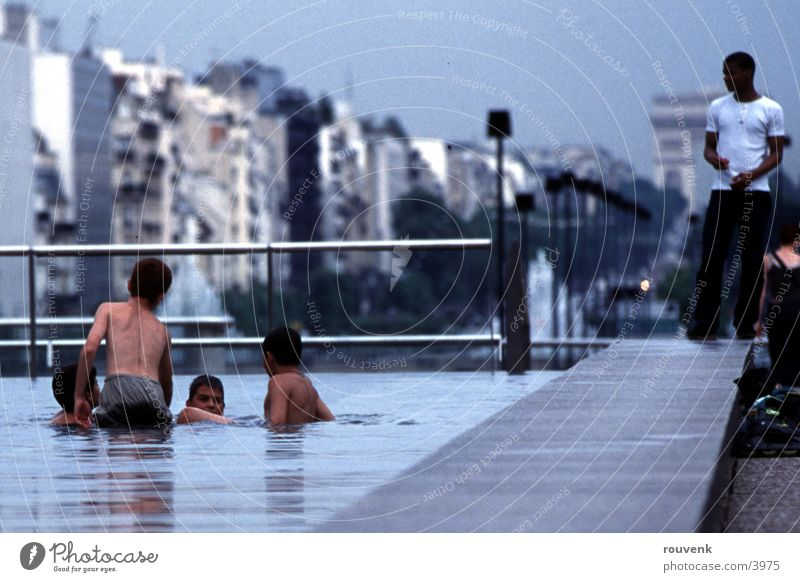 Human being Child Water Summer Playing Well Paris France