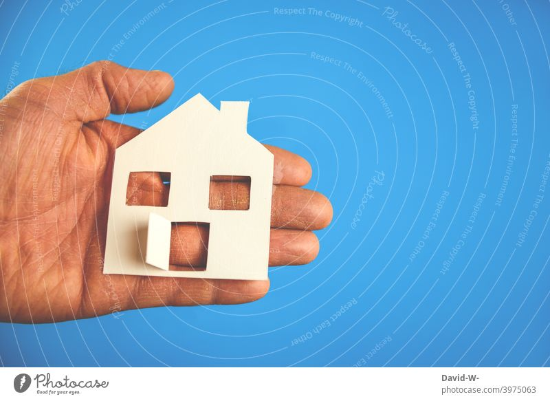 Building a house / owning a home - holding a house in your hands Real estate market Home House building House (Residential Structure) Planning planning