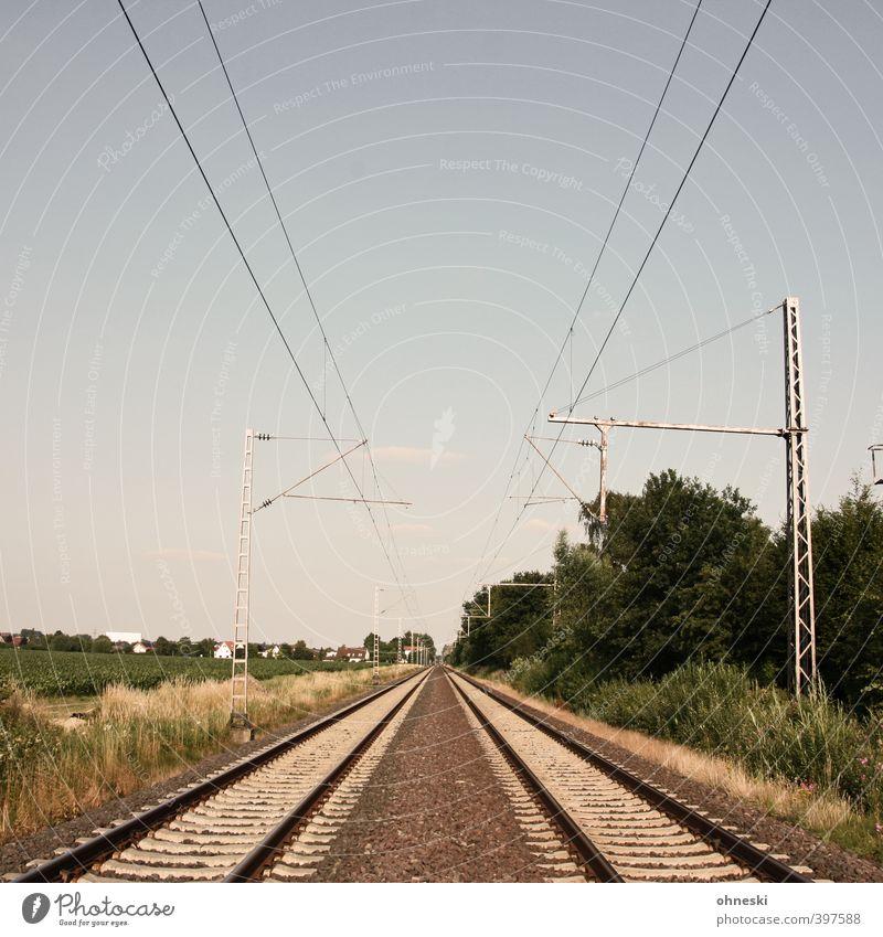 X Traffic infrastructure Public transit Logistics Train travel Rail transport Railroad tracks Line Vacation & Travel Loneliness Horizon Lanes & trails