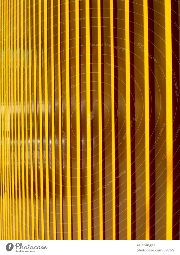 Structure in yellow Reflection Yellow Pattern Architecture Car Structures and shapes Stairs