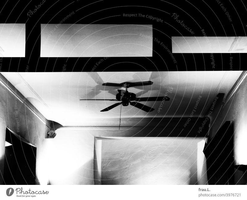 Ceiling fan Town Bistro Night Empty Restaurant Artificial light Wall (building) Blanket Loneliness Light