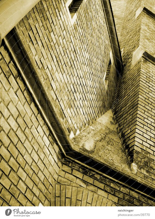 Wall (barrier) Religion and faith Corner Brick Sepia Dugout House of worship