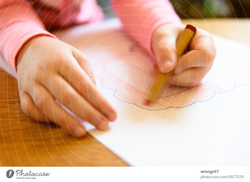But now quickly | a little picture for Mutti topic day swift expeditious Image Drawing Children's drawing childhood photograph crayons