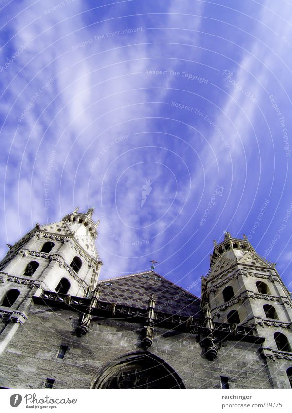 steffl St. Stephen's Cathedral Vienna Clouds Religion and faith Christianity House of worship heathen towers giant goal
