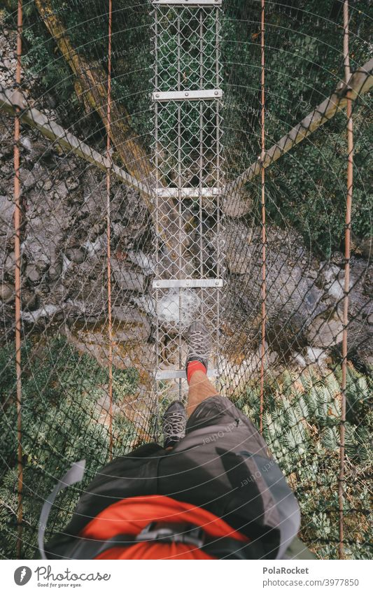#AS# Adventure Suspension Bridge hikers Suspension bridge Nature Hiking Nature reserve my perspective Fear of heights Going Net To fall Landscape