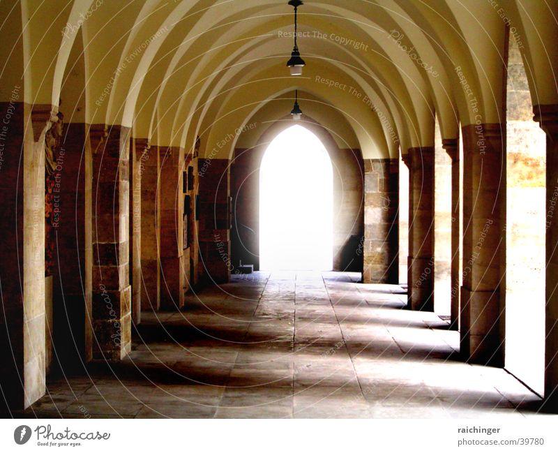 into the light Holy Light Minorites House of worship Column Arcade Shadow Religion and faith Corridor
