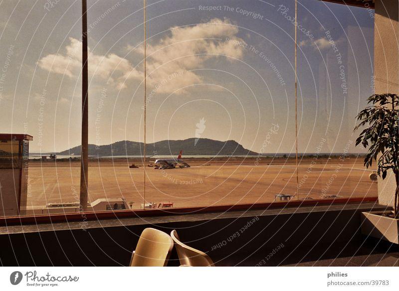 Departure from Eivissa Ocean Clouds Ibiza Airplane Europe Airport
