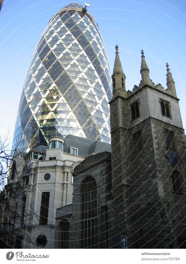 modern times London High-rise Office building Architecture the gherkin sir norman foster Skyline the cucumber Religion and faith 30 St Mary Axe