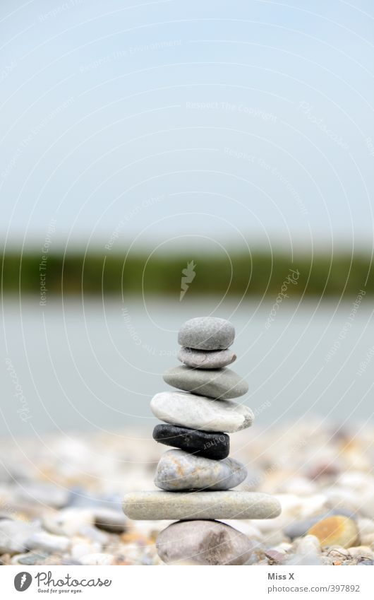 stonemen Wellness Harmonious Relaxation Calm Meditation Leisure and hobbies Summer vacation Lake Moody Patient Self Control Contentment Cairn Stone Stack