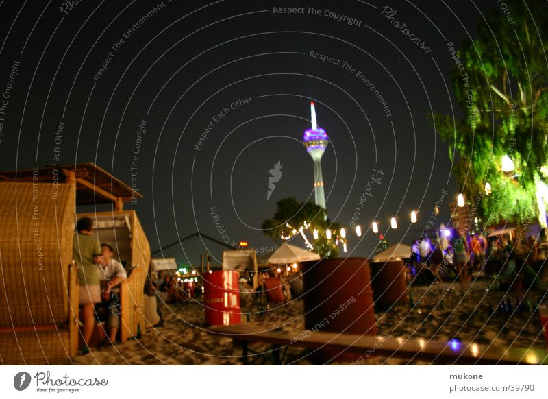 Beautiful Tree Beach Lamp Relaxation Party Sand Going Island Bench Club Duesseldorf Beach chair New Zealand Television tower Night life