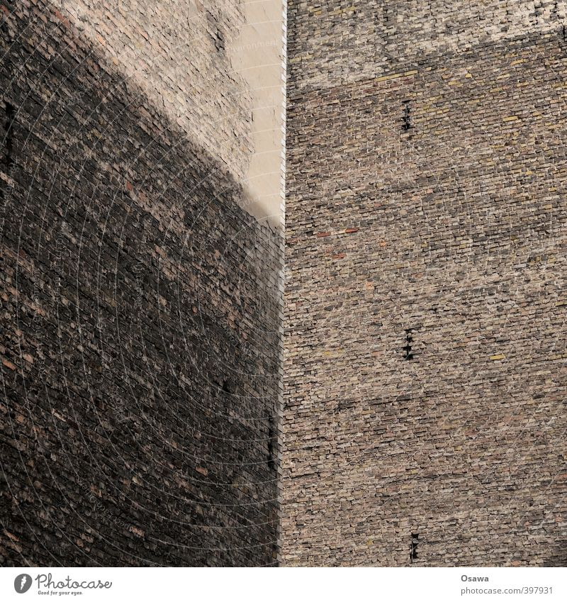 Wall (building) Architecture Wall (barrier) Building Gray Berlin Stone Gloomy Copy Space Backyard Old building Fire wall