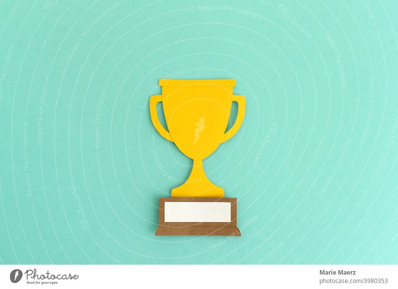 Winner | Winner Cup Paper Illustration winners gain competition Cup (trophy) award Success Happy Sports Master Competition Championship Award ceremony