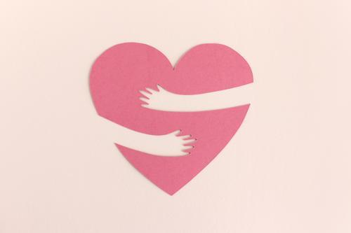 The heart lacks an embrace Heart hug proximity Love contact Touch Embrace Longing corona detachment Miss Happy Joy Friendship Affection Arm Together Reunion
