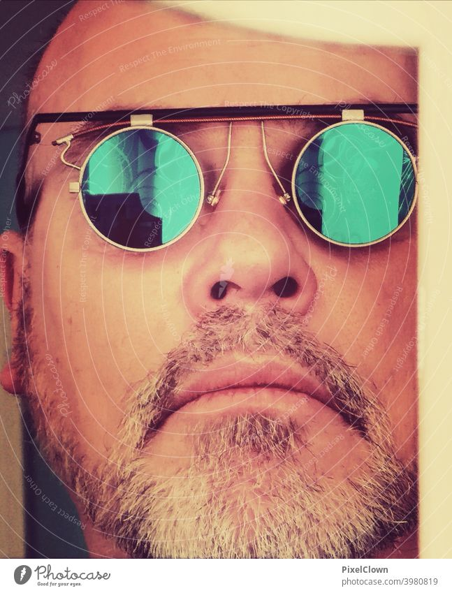 Man with beard and sunglasses portrait Human being Facial hair Looking Face Masculine Eyeglasses Sunglasses Head Adults Cool (slang) Looking into the camera