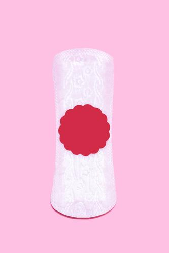 Feminine hygiene. Sanitary napkins with blood drops. Menstrual cycle icon concept. Vertical image women Menstruation Cycle monthly symbol d absorb Abstract Art