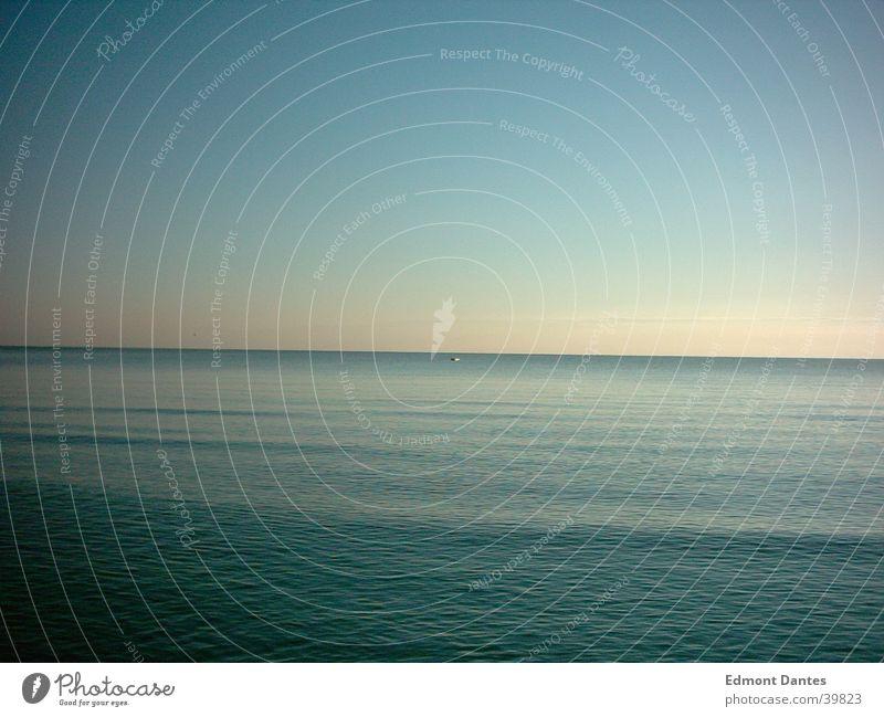 Nature Water Sky Ocean Blue Calm Loneliness Watercraft Waves Horizon Peace Idyll Baltic Sea