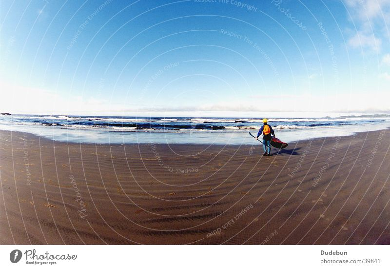 Beach, Tofino Human being Man Youth (Young adults) Water Sky Ocean Summer Vacation & Travel Sports Playing Sand Waves Adults Wind Masculine