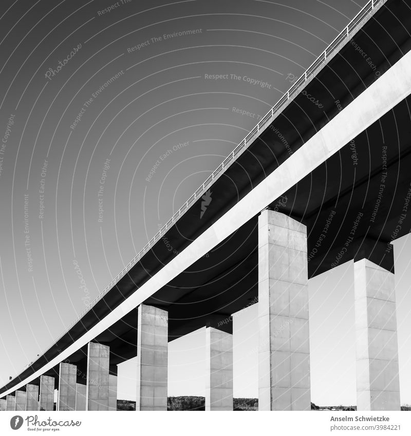 highway bridge travel transport perspective concrete architecture city connection autobahn traffic tall facade construction design abstract large urban