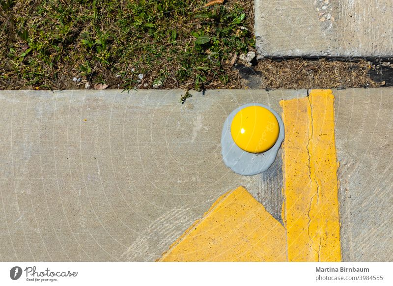 The lost egg - yellow street markings background tarmac transport abstract black texture surface road color urban lane design city closeup transportation