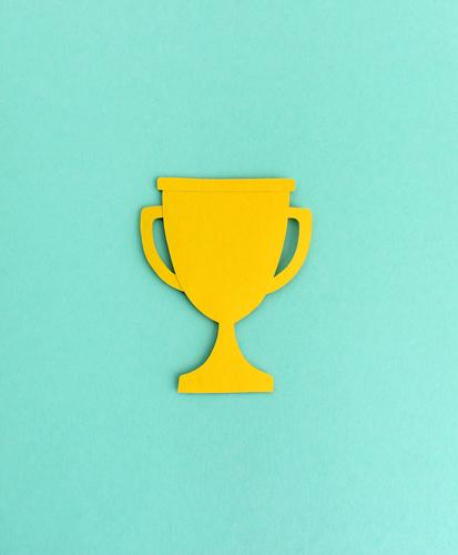 Paper cup silhouette award winners Cup (trophy) paper cut Illustration Minimalistic Abstract Silhouette Neutral Background Design Success strength Quality