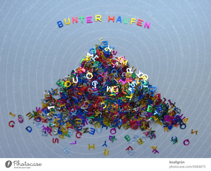 Motley crowd Letters (alphabet) Heap Many Things letter variegated Glittering Characters Latin alphabet Word Compromise Communicate Language communication