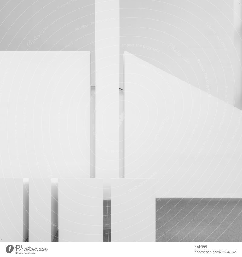 white staircase with room elements Staircase (Hallway) exposed concrete Concrete Staircase Shadow Stairs architecture Black Minimalistic urban industry
