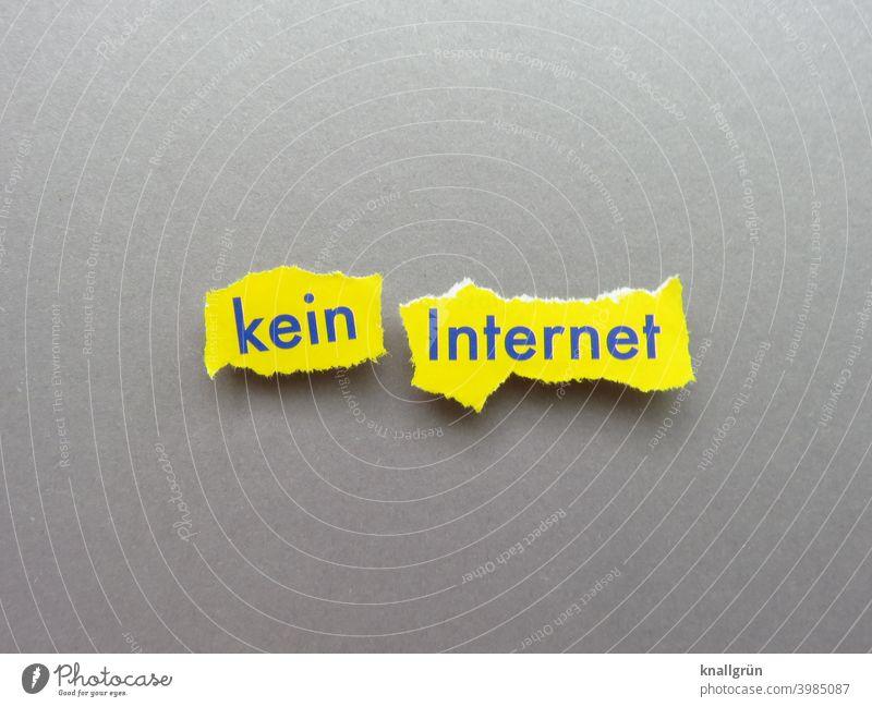no internet Internet Technology Computer Offline Online Lifestyle Tablet computer Digital Expectation Letters (alphabet) Word leap letter Typography