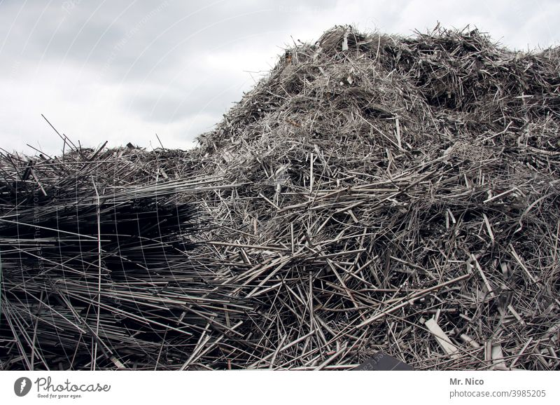heavy metal VIII Industry Ready for scrap Metal Scrapyard Garbage dump Scrap metal Recycling Environmental pollution Heap Workplace Part Accumulate Trade Trashy