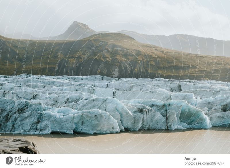 Glacier glacier ice snow melting iceland Blue Landscape Nature Mountain Frost Lagoon global warming The Arctic