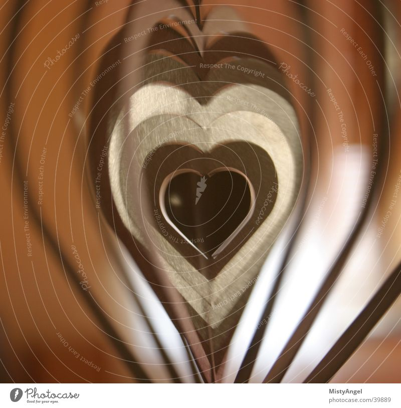 heart Things Motion blur Auburn Heart Metal color Detail
