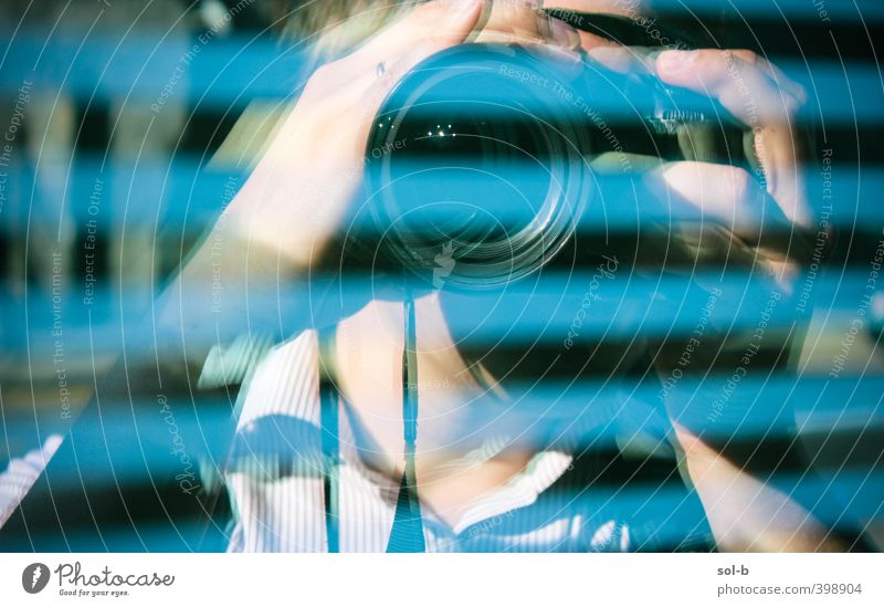 NCH | Photographer Human being Man Blue City Adults Window Building Masculine Glass Tourism Photography Stripe Camera Media Creepy Watchfulness
