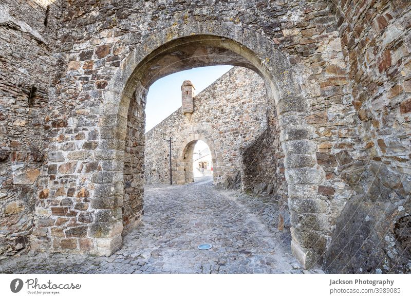 Double gates leading to town of Marvao, Alentejo, Portugal marvao entrance castle portugal marvão day door cityscape unesco watchtower outdoors bastion