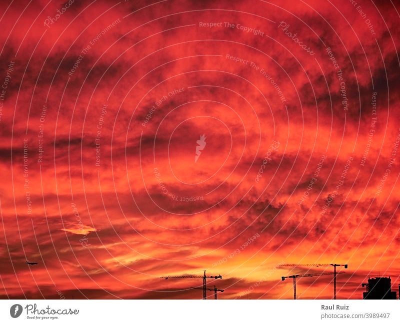 Sky light after sunset. orange background day twilight meteorology heaven vibrant weather sunlight cloud sky nature cloudscape stratosphere abstract descriptive