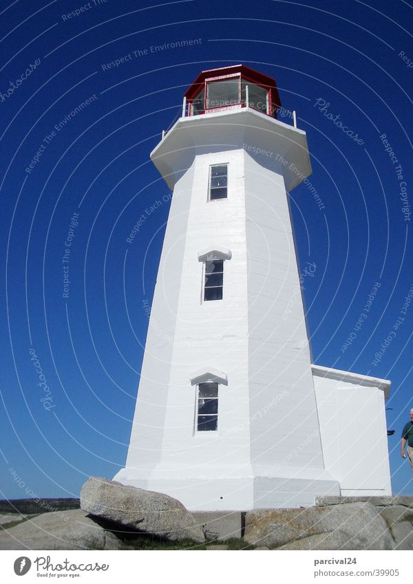Sky White Blue Historic Canada Lighthouse Nova Scotia Halifax