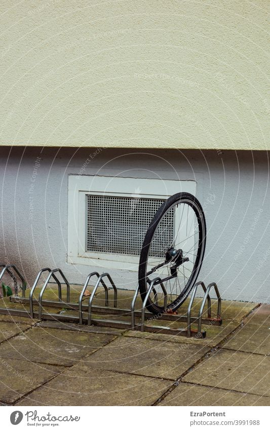 sure Bicycle Wheel Safety completed Bicycle rack Theft Transport loss Lock bicycle lock Wall (building) Window Facade Backup