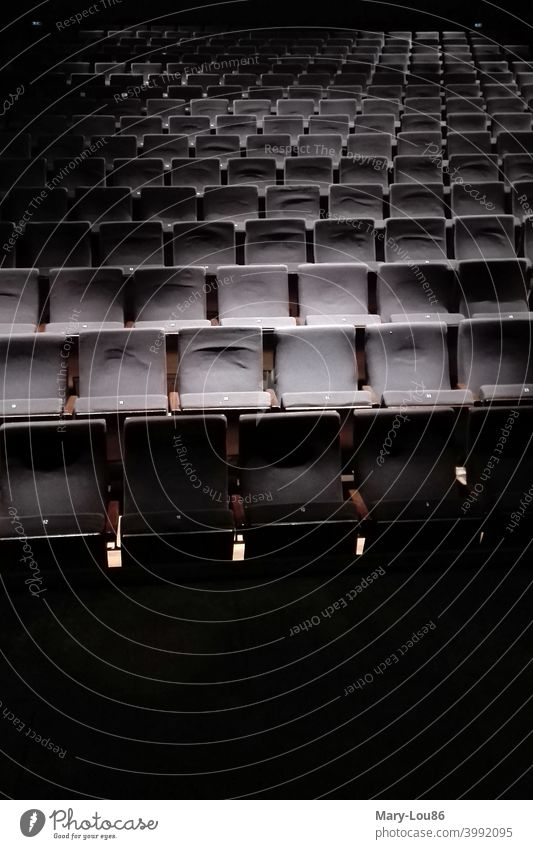 Empty rows of chairs in the theatre during Corona crisis Theatre corona corona crisis Cultural crisis Culture Chair rows seats Theatre seats empty rows void