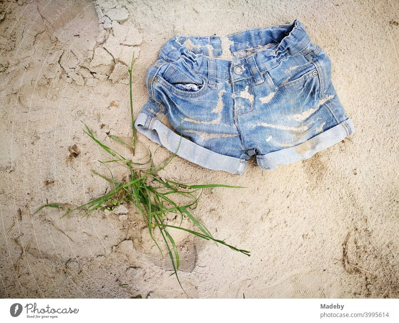 Short jeans as hot pants in summer on holiday at a lonely beach in Ostwestfalen-Lippe denim Pants Shorts Fashion style Design Lifestyle Summer Sun Beach