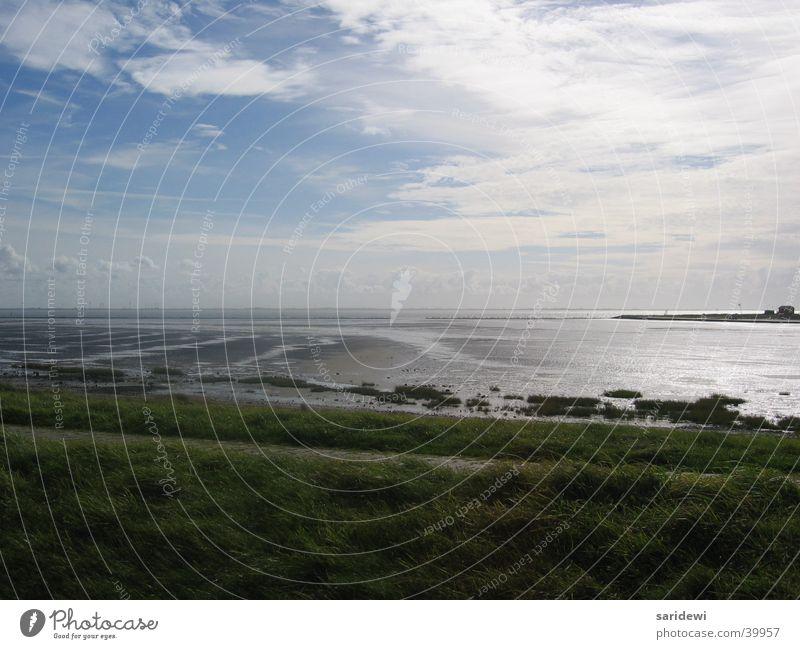 Norderney Coast Clouds Ocean Sunrise North Sea Water Sky